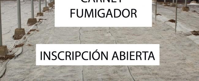 Aplicador Fitosanitarios Carnet Carné Fumigador Almería Ejido Roquetas Nijar Adra Berja Vicar Mojonera